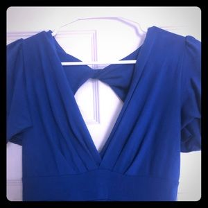 Lux Urban Outfitters UO blue back cut-out Dress